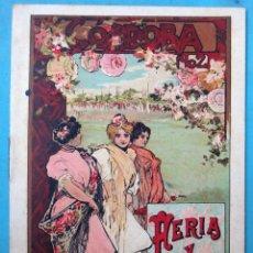 Carteles Feria: PROGRAMA CARTEL FERIAS FIESTAS TOROS, CORDOBA 1902 , LITOGRAFIA ANTIGUA , ORIGINAL , H3. Lote 110127999