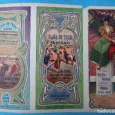 Carteles Feria: CARTEL PROGRAMA FERIAS FIESTAS Y TOROS, ALGECIRAS CADIZ , 1908 ,LITOGRAFIA ANTIGUA , ORIGINAL , H3. Lote 110130363