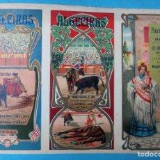 Carteles Feria: CARTEL PROGRAMA FERIAS FIESTAS Y TOROS, ALGECIRAS CADIZ , 1908 ,LITOGRAFIA ANTIGUA , ORIGINAL , H3. Lote 110130467