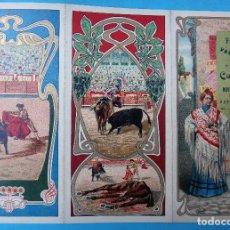 Carteles Feria: CARTEL PROGRAMA FERIAS FIESTAS Y TOROS, VALDEPEÑAS CIUDAD REAL , 1906 , ORIGINAL , H3. Lote 110130759