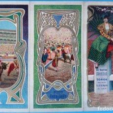 Carteles Feria: CARTEL PROGRAMA FERIAS FIESTAS Y TOROS , LA CORUÑA , 1906 , LITOGRAFIA ANTIGUA, ORIGINAL , H3. Lote 110131215