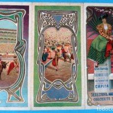 Carteles Feria: CARTEL PROGRAMA FERIAS FIESTAS Y TOROS , JEREZ CADIZ , 1908 , LITOGRAFIA ANTIGUA, ORIGINAL , H3. Lote 110131719