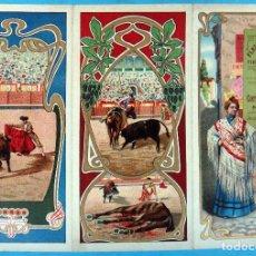 Carteles Feria: CARTEL PROGRAMA FERIAS FIESTAS Y TOROS , FIGUERAS GERONA , 1906 , LITOGRAFIA ANTIGUA, ORIGINAL , H3. Lote 110131891