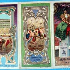 Carteles Feria: CARTEL PROGRAMA FERIAS FIESTAS Y TOROS , VALENCIA , 1906 , LITOGRAFIA ANTIGUA, ORIGINAL , H3. Lote 110131971