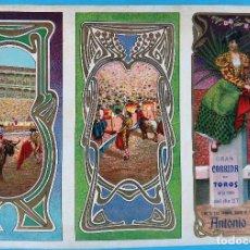 Carteles Feria: CARTEL PROGRAMA FERIAS FIESTAS Y TOROS, ARNERO LA RIOJA , LITOGRAFIA ANTIGUA, ORIGINAL , H3. Lote 110133207