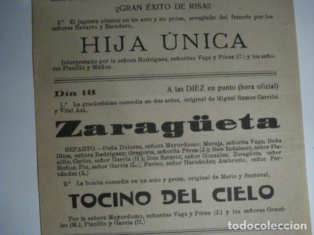 Carteles Feria: RARO CARTEL FERIAS TEATRO - CASA SOCIAL CATOLICA DE DUEÑAS - PALENCIA AÑO 1919 - - Foto 3 - 110263863