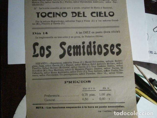 Carteles Feria: RARO CARTEL FERIAS TEATRO - CASA SOCIAL CATOLICA DE DUEÑAS - PALENCIA AÑO 1919 - - Foto 4 - 110263863