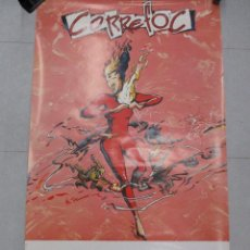 Carteles Feria: CARTEL CORREFOC MERCE 89. PERE JOAN. 1989. 98X57 CM. BARCELONA ORIGINAL DE EPOCA. Lote 110568091
