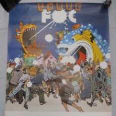 Carteles Feria: CARTEL CORREFOC MERCE 88. 1988. DANIEL TORRES. 97 X 68 CM BARCELONA ORIGINAL DE EPOCA. Lote 110568239