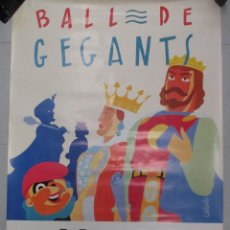 Carteles Feria: CARTEL BALL DE GEGANTS MERCE 89. 1989. DANIEL GALLARDO 100 X 70 CM BARCELONA ORIGINAL DE EPOCA. Lote 110568507