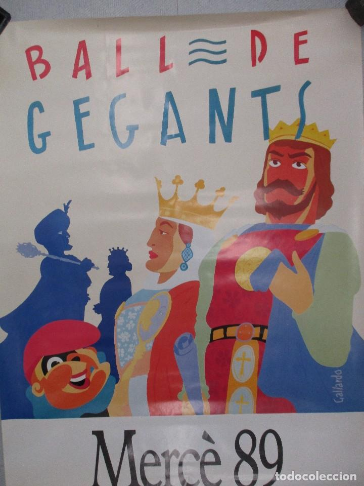 Carteles Feria: CARTEL BALL DE GEGANTS MERCE 89. 1989. DANIEL GALLARDO 100 X 70 CM BARCELONA ORIGINAL DE EPOCA - Foto 2 - 110568507