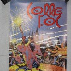 Carteles Feria: CARTEL BALL DE GEGANTS CORREFOC 86. 1986 MAX 90 X 55 CM BARCELONA ORIGINAL DE EPOCA. Lote 110568851