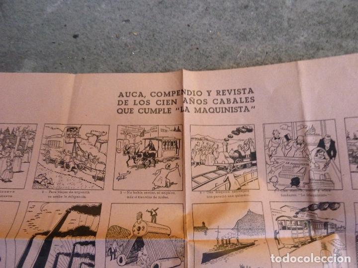 Carteles Feria: AUCA COMPEDIO Y REVISTA DE LOS CIEN AÑOS CABALES QUE CUMPLE - LA MAQUINARIA - BARCELONA - Foto 2 - 111087203