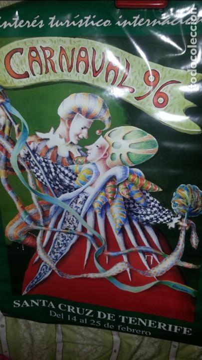 EXCEPCIONAL CARTEL CARNAVALES SANTA CRUZ DE TENERIFE. CANARIAS. 1996. MUY DIFICIL (Coleccionismo - Carteles Gran Formato - Carteles Ferias, Fiestas y Festejos)