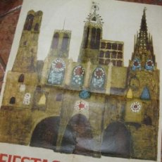 Carteles Feria: BONITO CARTEL FIESTAS DE LA MERCED . BARCELONA 1963 . FESTES DE LA MERCÈ - 68/ 90 CM. Lote 111458759
