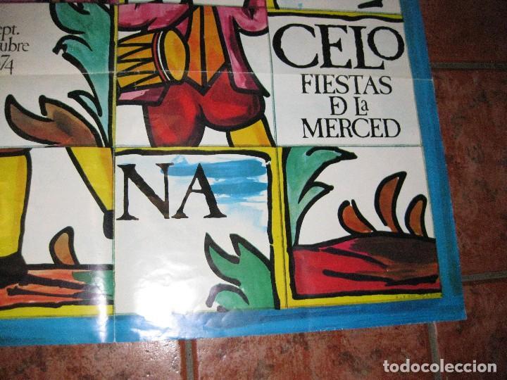 Carteles Feria: gran cartel fiestas de la merced 1974 . festes de la mercè . 80/ 66 original barcelona - Foto 2 - 111459131