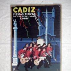 Carteles Feria: CARNAVAL DE CADIZ - CARTEL ORIGINAL AÑO 1966 - LOS BEATLES DE CADIZ. Lote 112079531