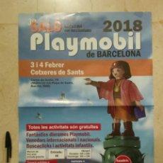 Carteles Feria: CARTEL ORIGINAL -A3- SALON BARCELONA - PLAYMOBIL - CRISTÓBAL COLÓN. Lote 112096819