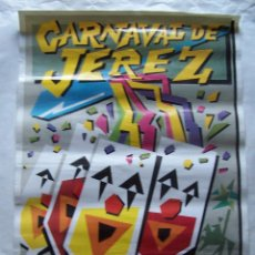 Carteles Feria: CARTEL CARNAVAL DE JEREZ FEBRERO 1990. 70 X 49 CM.. Lote 113249427
