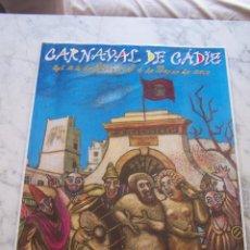 Carteles Feria: CARTEL CARNAVAL DE CÁDIZ, FEBRERO- MARZO 2001. 69 X 48 CM.. Lote 113250023