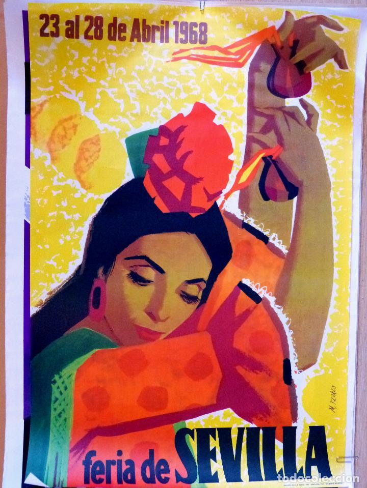 CARTEL FERIA DE SEVILLA 1968 (Coleccionismo - Carteles Gran Formato - Carteles Ferias, Fiestas y Festejos)