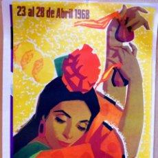 Carteles Feria: CARTEL FERIA DE SEVILLA 1968. Lote 113486915