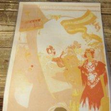 Carteles Feria: PRUEBA DE COLOR DEL CARTEL DE FIESTAS PRIMAVERALES DE SEVILLA DE 1913, 100% ORIGINAL, 27X41 CMS. Lote 114155383
