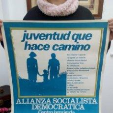 Carteles Feria: TUBAL GRAN CARTEL 1977 ALIANZA DEMOCRATICA SOCIALISTA 59 CM . Lote 114237203