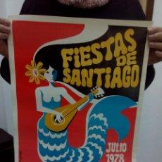Carteles Feria: TUBAL GRAN CARTEL VILLANUEVA DE LA SERENA FIESTAS DE SANTIAGO JOSE LARRE 1978 48 CM . Lote 114238631
