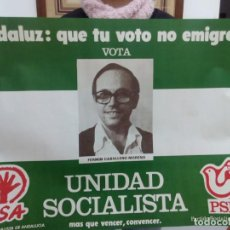 Carteles Feria: TUBAL GRAN CARTEL UNIDAD SOCIALISTA 65 CM PSA PSP 1977. Lote 114238983
