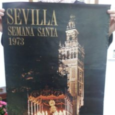 Carteles Feria: TUBAL GRAN CARTEL SEVILLA SEMANA SANTA 1973 68 CM. Lote 114239755