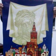 Carteles Feria: TUBAL GRAN CARTEL SEVILLA SEMANA SANTA 1977 68 CM. Lote 114239975