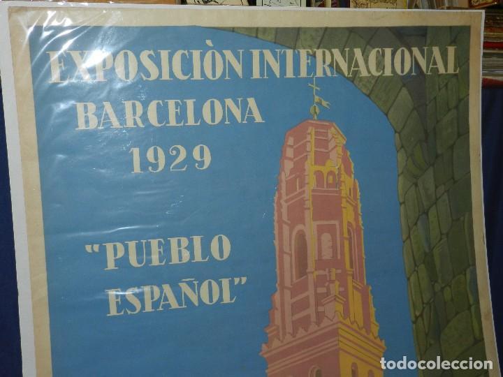 Carteles Feria: (M) CARTEL EXPOSICION INTERNACIONAL BARCELONA 1929 PUEBLO ESPAÑOL , ILUSTRADO XAVIER NOGUES - Foto 2 - 114551163
