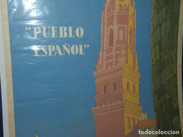 Carteles Feria: (M) CARTEL EXPOSICION INTERNACIONAL BARCELONA 1929 PUEBLO ESPAÑOL , ILUSTRADO XAVIER NOGUES - Foto 3 - 114551163