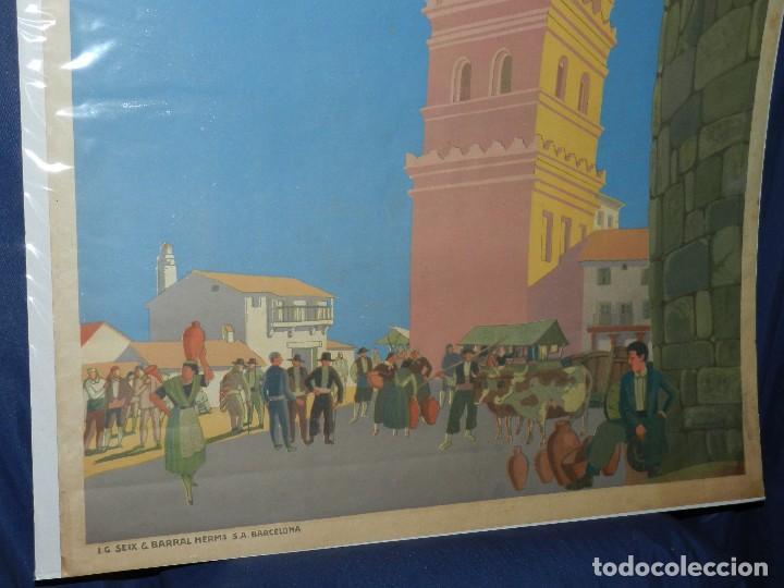 Carteles Feria: (M) CARTEL EXPOSICION INTERNACIONAL BARCELONA 1929 PUEBLO ESPAÑOL , ILUSTRADO XAVIER NOGUES - Foto 4 - 114551163