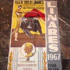 Carteles Feria: ANTIGUO CARTEL DE FERIA DE SAN AGUSTÍN AÑO 1967 A LA MEMORIA DE MANOLETE. Lote 114590320