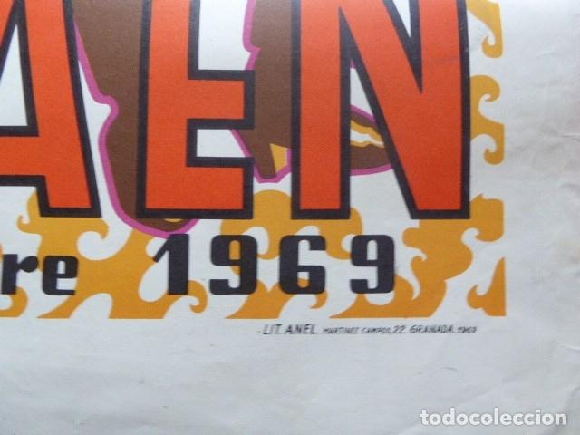 Carteles Feria: CARTEL FERIA DE SAN LUCAS. JAEN. 1969. M. GUTIERREZ. LIT. ANEL. 58 X 80 CM. - Foto 3 - 114624651
