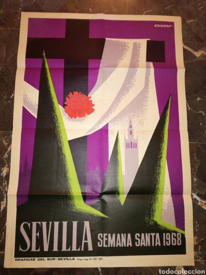 CARTEL SEMANA SANTA SEVILLA 1968 (Coleccionismo - Carteles Gran Formato - Carteles Ferias, Fiestas y Festejos)