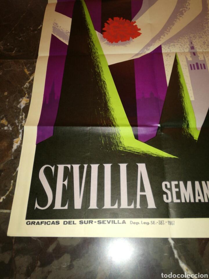 Carteles Feria: Cartel Semana Santa Sevilla 1968 - Foto 3 - 114660183