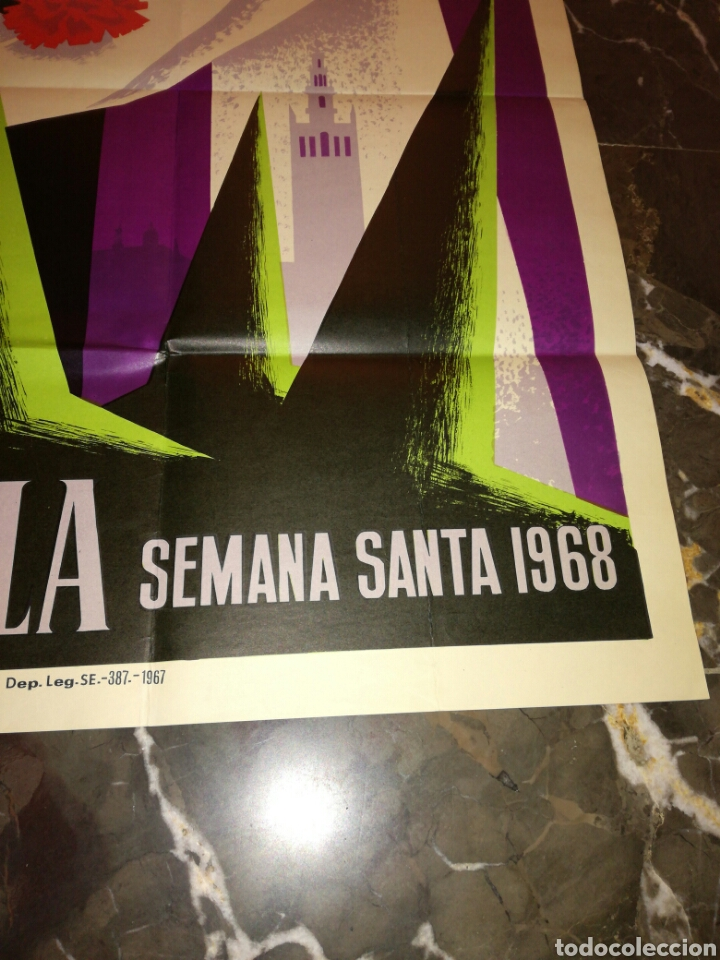Carteles Feria: Cartel Semana Santa Sevilla 1968 - Foto 4 - 114660183
