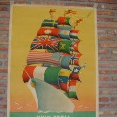 Carteles Feria: XXVI FERIA MUESTRARIO INTERNACIONAL DE VALENCIA AÑO 1948.C.-056. Lote 24549663