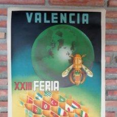 Carteles Feria: VALENCIA.XXIII FERIA MUESTRARIO INTERNACIONAL.1945,C.-058. Lote 27363579