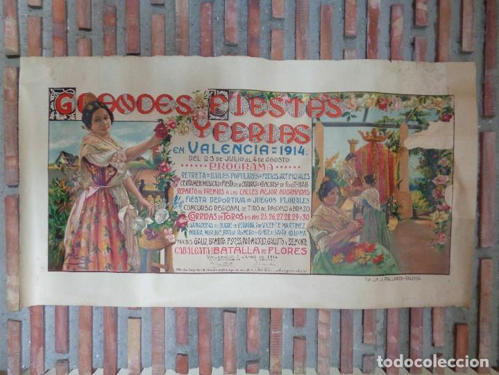 GRANDES FIESTAS Y FERIAS EN VALENCIA.AÑO 1914.C.-75 (Coleccionismo - Carteles Gran Formato - Carteles Ferias, Fiestas y Festejos)