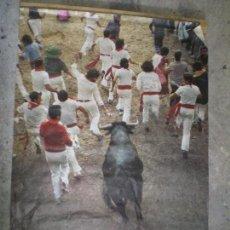 Carteles Feria: POSTER CARTEL 100 X 70 SAN FERMÍN 1977. PAMPLONA NAVARRA. Lote 116248847