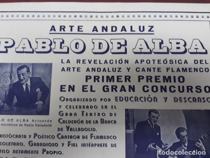 Carteles Feria: CARTEL ARTE ANDALUZ PABLO DE ALBA EN TEATRO CALDERON DE VALLADOLID - Foto 2 - 116259939