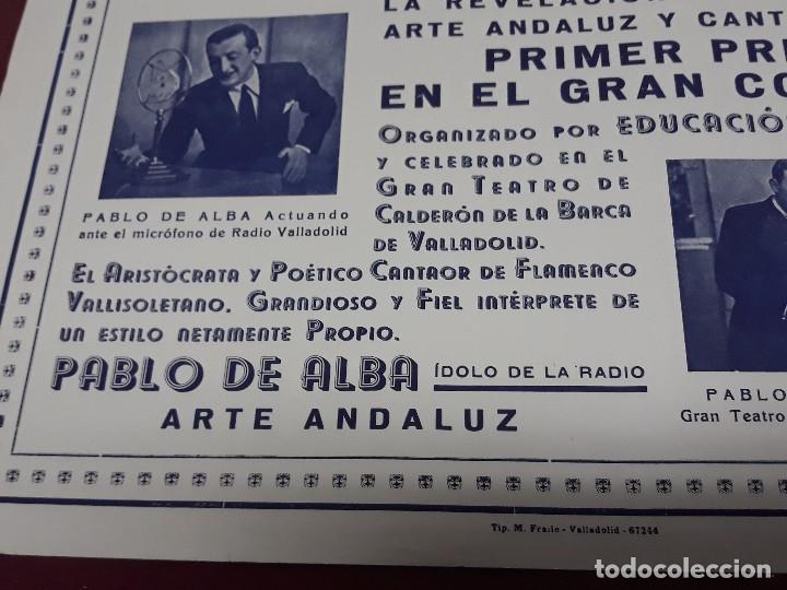 Carteles Feria: CARTEL ARTE ANDALUZ PABLO DE ALBA EN TEATRO CALDERON DE VALLADOLID - Foto 3 - 116259939