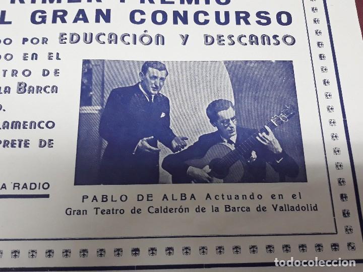 Carteles Feria: CARTEL ARTE ANDALUZ PABLO DE ALBA EN TEATRO CALDERON DE VALLADOLID - Foto 4 - 116259939