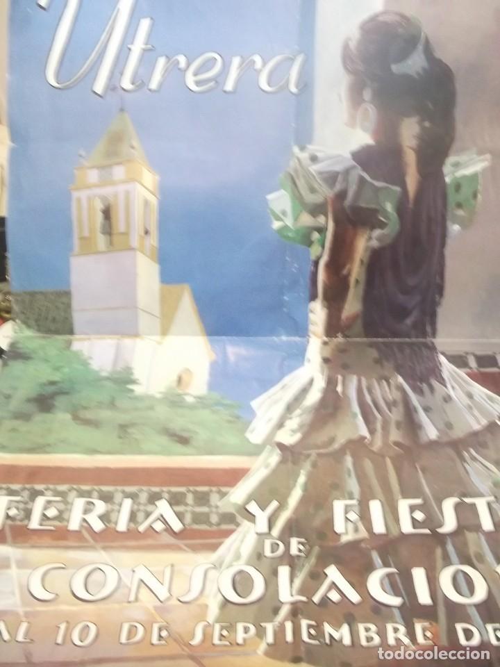 CARTEL FERIA Y FIESTAS DE CONSOLACION . UTRERA -SEVILLA .AÑO 2000 (Coleccionismo - Carteles Gran Formato - Carteles Ferias, Fiestas y Festejos)