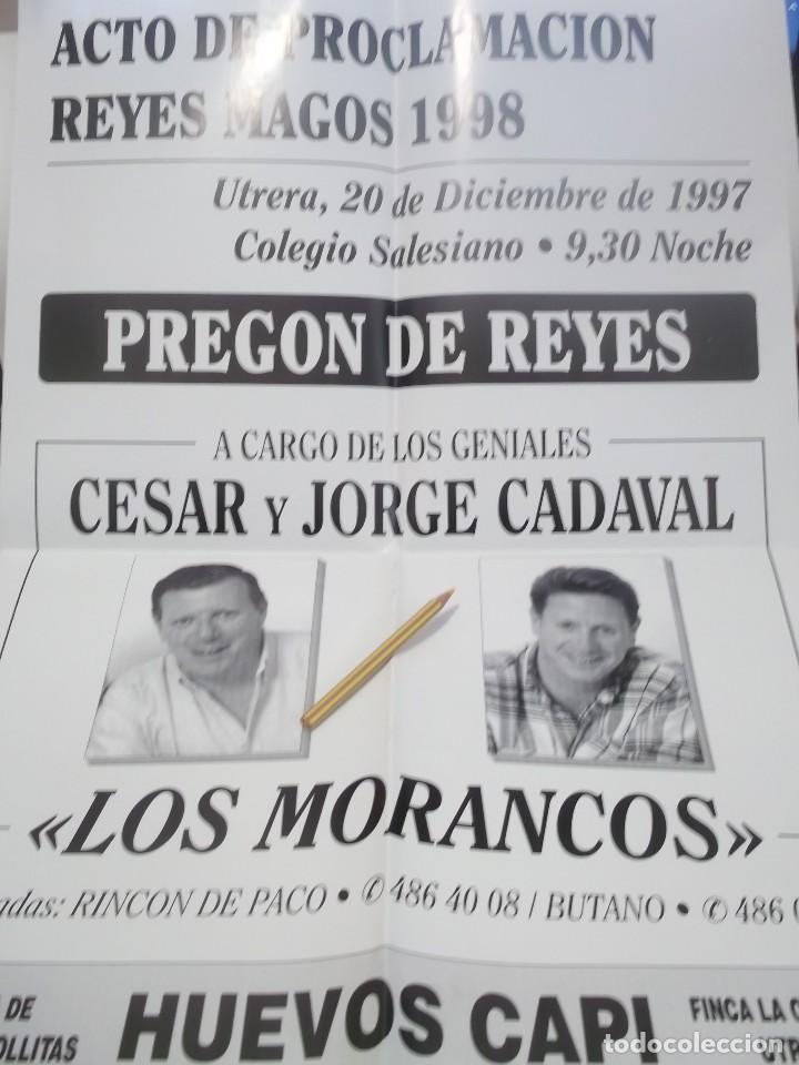 CARTEL PREGON REYES MAGOS POR LOS HUMORISTAS LOS MORANCOS .UTRERA.1997 (Coleccionismo - Carteles Gran Formato - Carteles Ferias, Fiestas y Festejos)