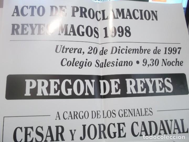 Carteles Feria: CARTEL PREGON REYES MAGOS POR LOS HUMORISTAS LOS MORANCOS .UTRERA.1997 - Foto 2 - 116300971